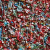Pike Place Market gum wall close up.