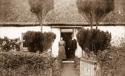 Couple at cottage