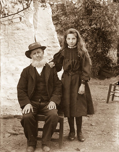 Old man with girl