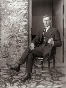 Man seated by half door 2