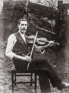 RC McKane with fiddle