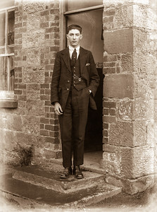 Young man in doorway