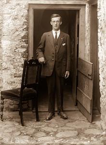 Man, Chair at Halfdoor 1