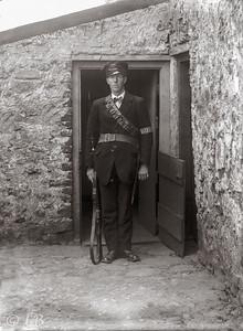 Policeman in Doorway