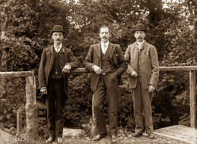 Three Men on Bridge