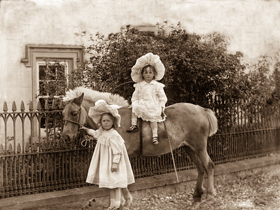 Two girls and a pony