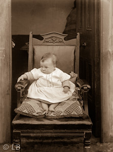 Baby on a chair