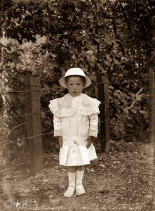 Child in white