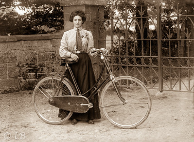Maggie Reid with bicycle
