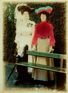 Two women tinted print