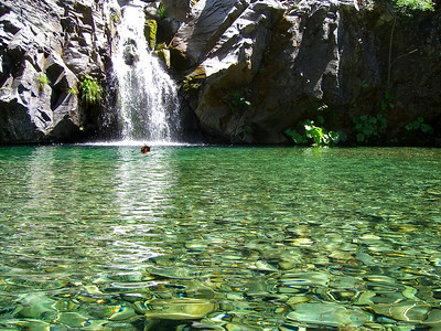 Waterfall Swimming Hole On The Eel River