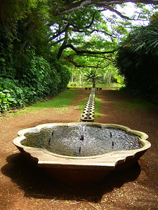 Allerton Gardens Mermaid Fountain, Kauai