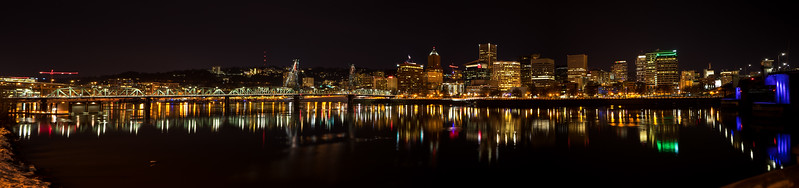 Portland Waterfront Reflection