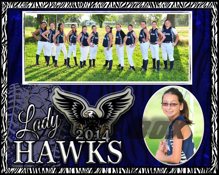 Selina Wilhite memory Mate Lady Hawks 2014