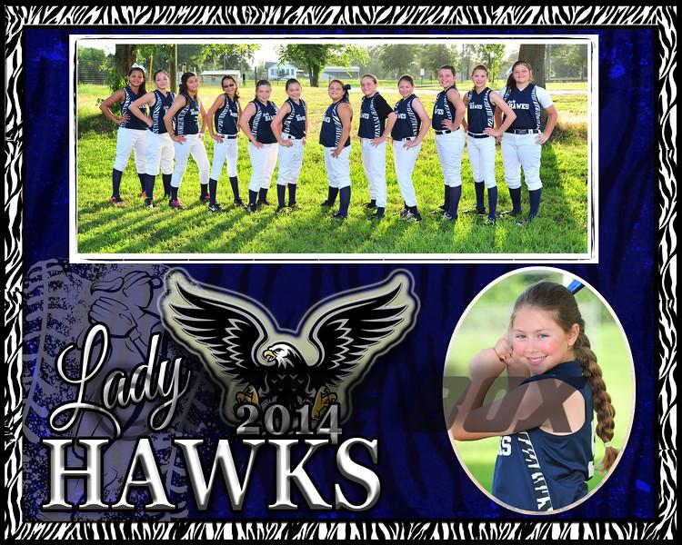Madasyn Ebarb memory Mate Lady Hawks 2014