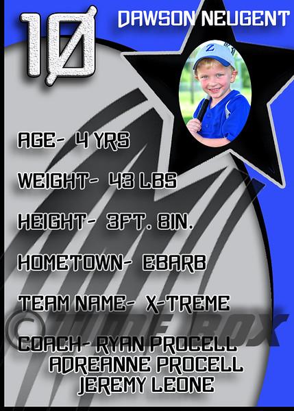 Dawson Neugent card back 2014