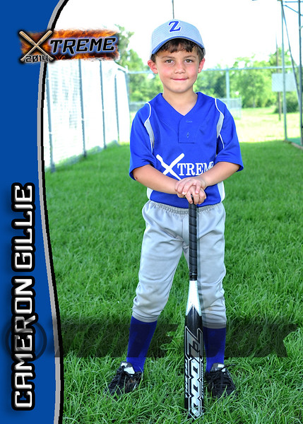 Cameron Gillie card front 2014