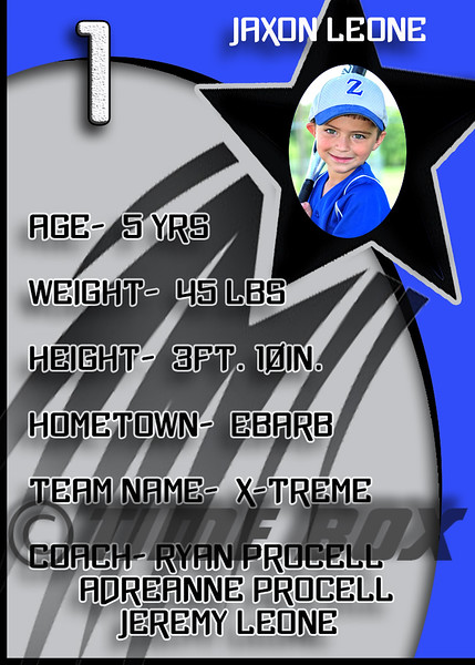 Jaxon Leone card back 2014