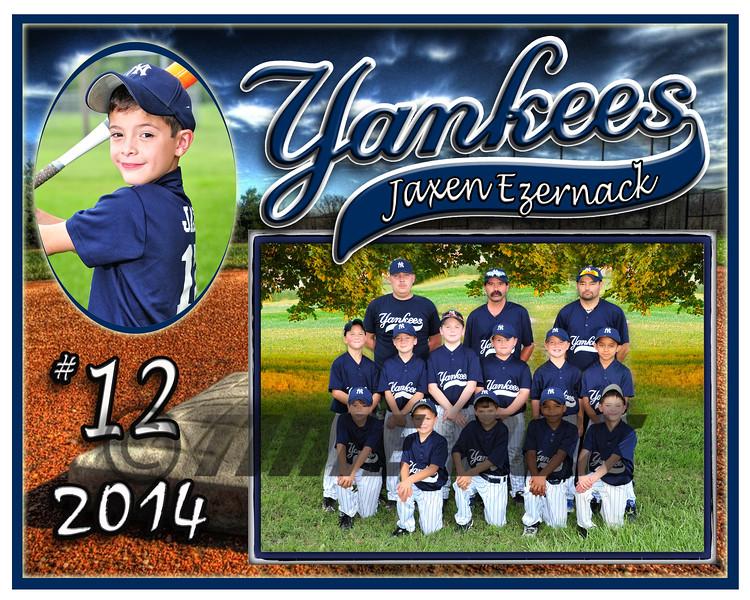 Jaxen Ezernack Yankees memory mate 2014