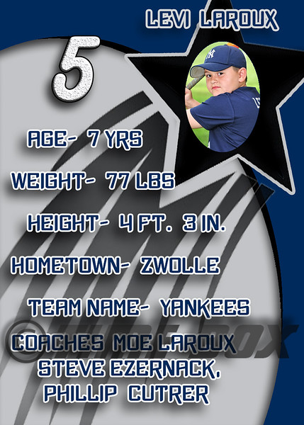 Levi Laroux card back 2014