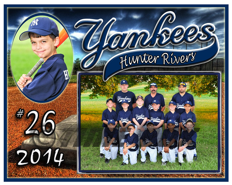 Hunter Rivers Yankees memory mate 2014