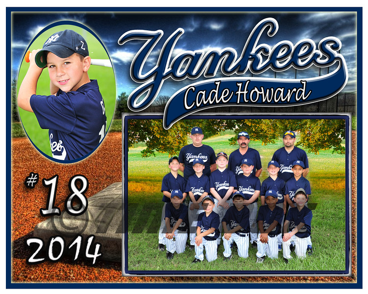 Cade Howard Yankees memory mate 2014