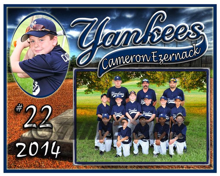 Cameron Ezernack Yankees memory mate 2014