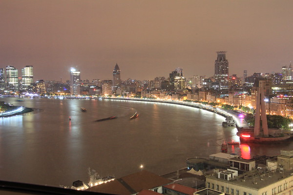 The Bund on the western bank of the Huangpu River, Shanghai, China