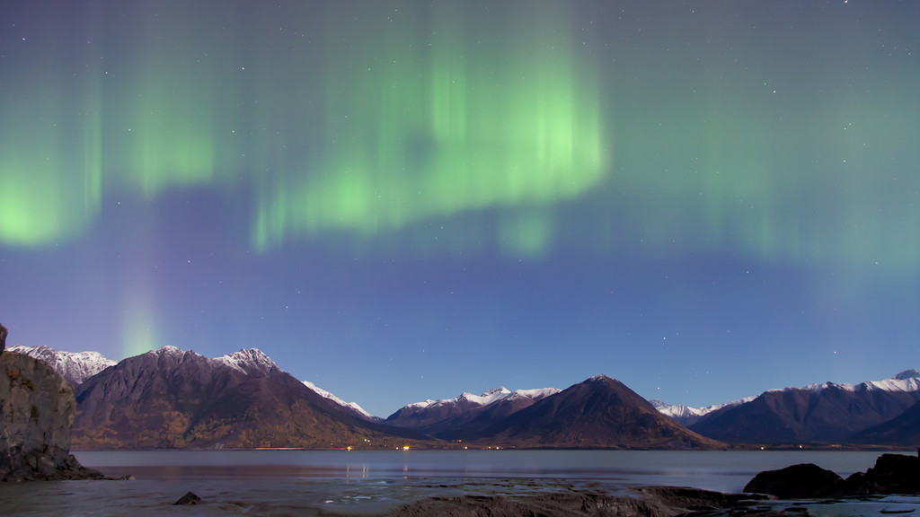 "Time Lapse of the Aurora Borealis (Northern Lights) over Turnagain Arm and the Chugach Mountains in Southcentral Alaska.  October 01, 2012  Song ""Between Dreams"" by <a href=""http://torley.com/4/""target=""_blank""><b>""Torley""</b></a>  Best viewed in Hi-Def"