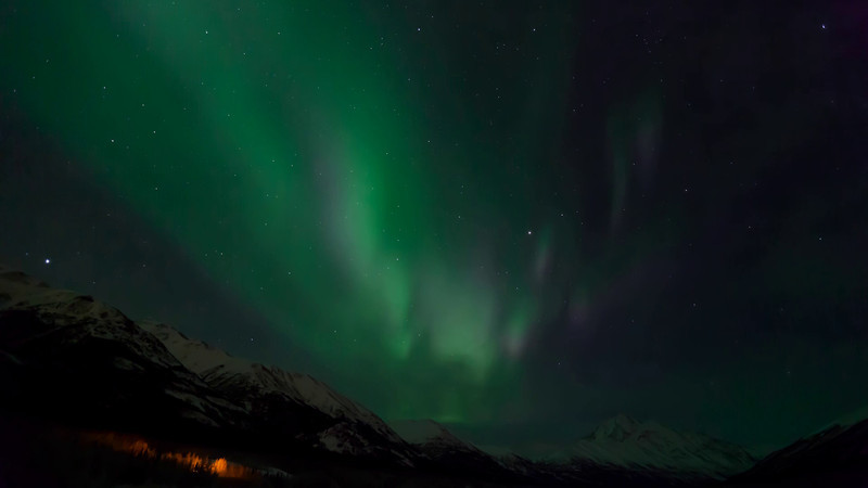 Time Lapse of the Aurora Borealis (Northern Lights) over Eklutna Lake and the Chugach Mountains in Southcentral Alaska.<br /> <br /> January 24, 2012<br /> <br /> Best viewed in Hi-Def