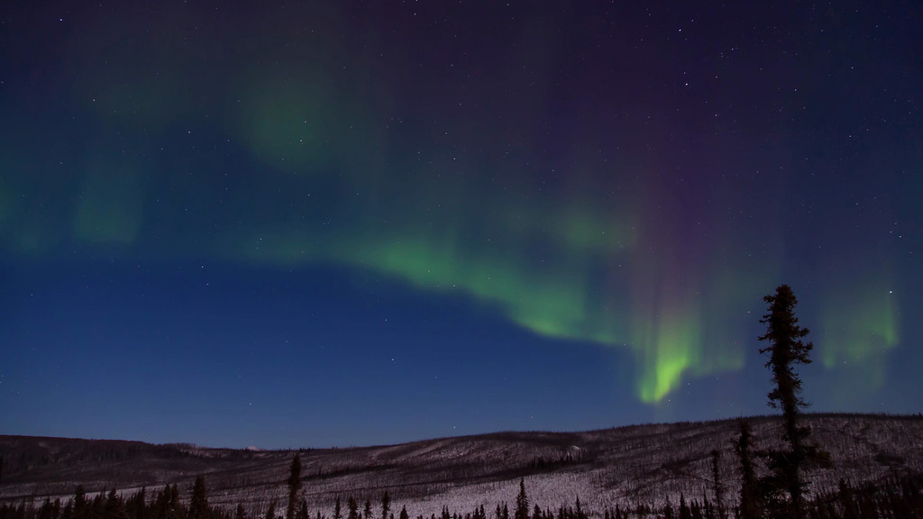 """Time Lapse of the Aurora Borealis (Northern Lights) from the Haul Road (James Dalton Highway) north of Fairbanks, Alaska  November 23, 2012  Song """"Pure Space"""" by <a href=""""http://torley.com/4/""""target=""""_blank""""><b>""""Torley""""</b></a>  Best viewed in Hi-Def"""