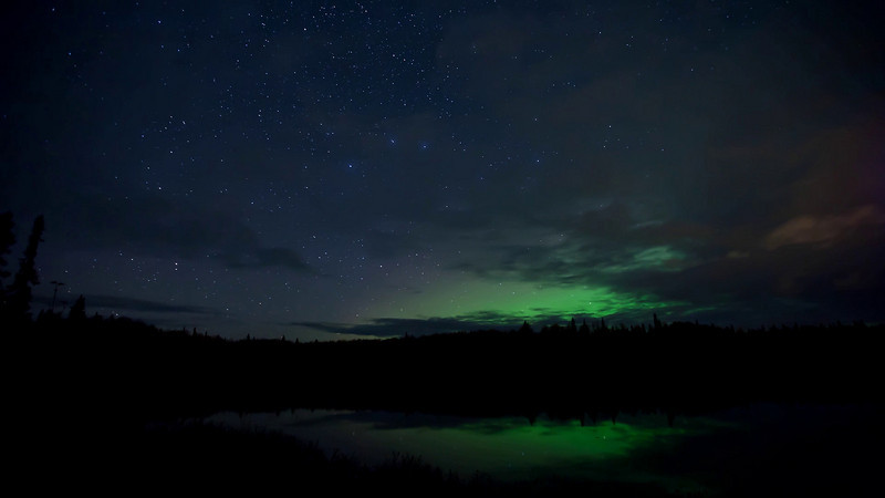 Time Lapse of the night sky and South Rolly Lake at Nancy Lake State Recreation Area, Alaska<br /> <br /> October 03, 2011<br /> <br /> Best viewed in Hi-Def