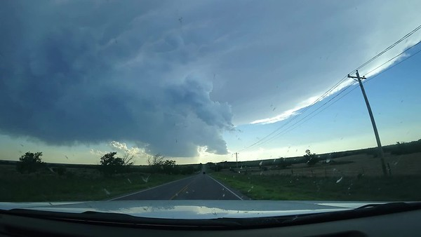 Dash Cam Time Lapse. Growing Supercell, Incredible Sunset. May 25th, Western Oklahoma.