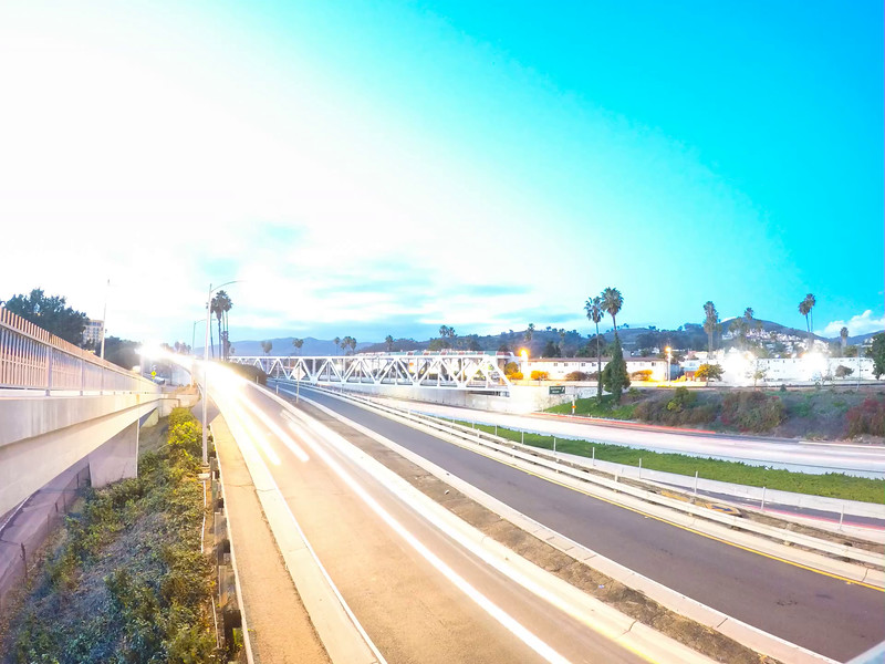 GoPro sunset time lapse over freeway