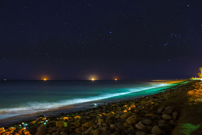 Stars over Surfers' Point