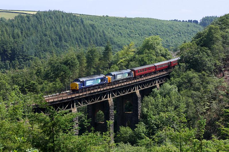 37259 & 37218 on East Largin Viaduct