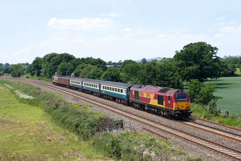 67016 leading 67017 at Ellerhayes