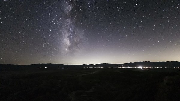 Milky Way Over Borrego Springs From Font's Point in the Anza-Borrego Desert