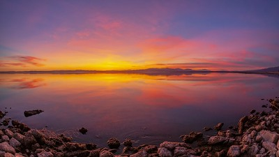 Splendid Smooth Still Shiny Sparkling Saturday Salton Sea Sunset Timelapse