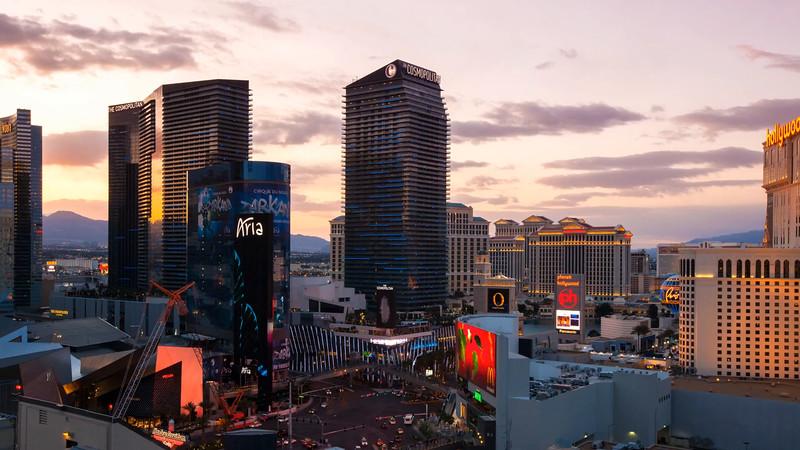 Vegas Strip Day to Night
