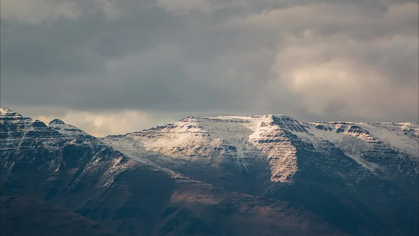 Clouds Rolling Over The Steens Peak