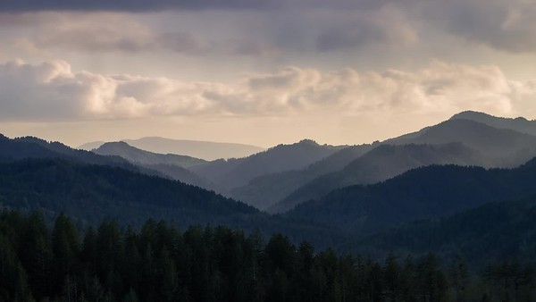 Rainclouds Over Tillamook Mountains