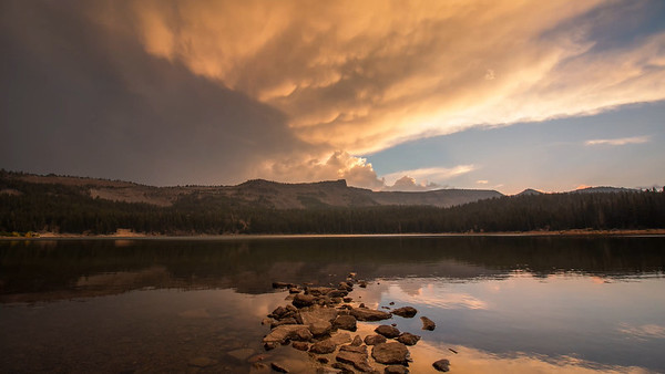 Stormy Sunset Over Three Creek Lake