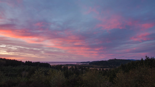 Sunset over Siletz Bay