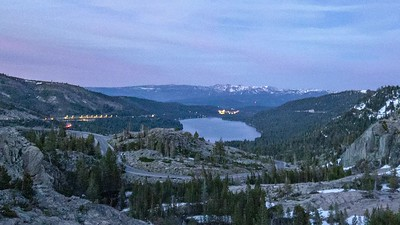 Donner Pass Stacked Car Trails