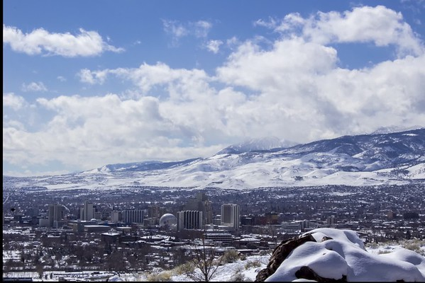 Clouds and Snow over Reno
