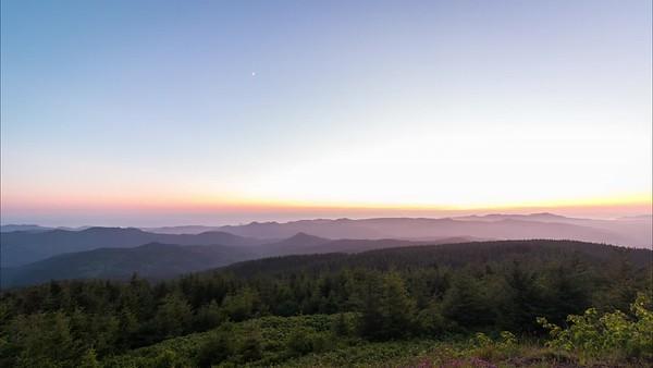 Fading Sunset On Mount Hebo