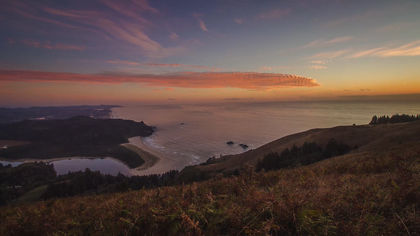 Calming Cascade Head Sunset