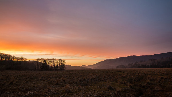 Cascade Head Wetlands Sunset