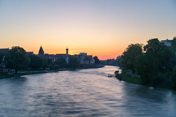 Morning sunset ulm